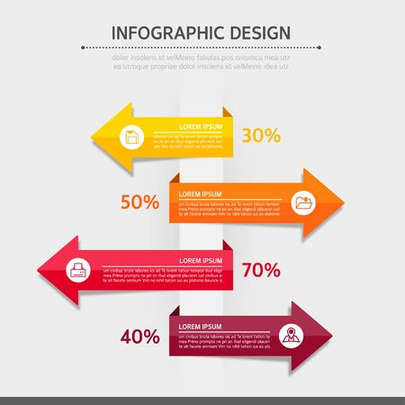 Business Info graphics Illustration