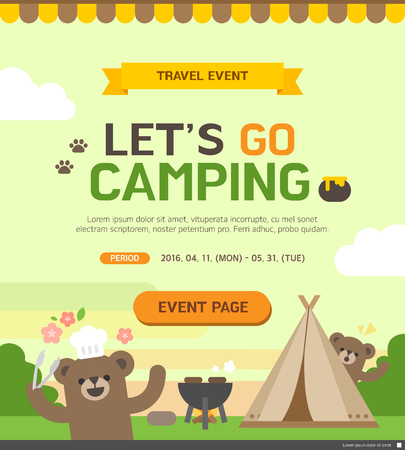 popup: travel event template