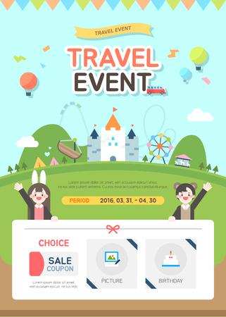 plantilla evento viajes