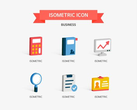 conjugation: business Isometric icon Illustration