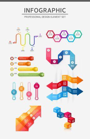 conjugation: Info graphic illustration Illustration