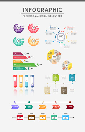 Info graphic illustration Illustration