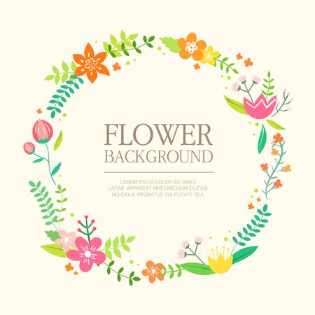 margins: flower background Illustration