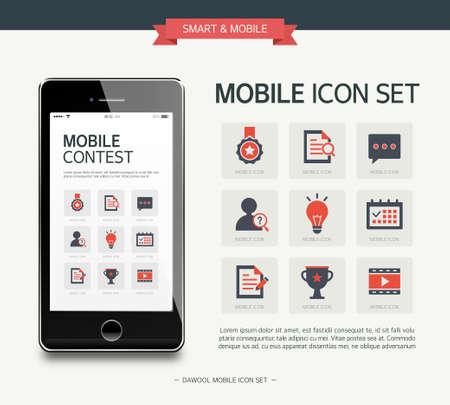 inquiry: Vector contest exhibit simple icon set