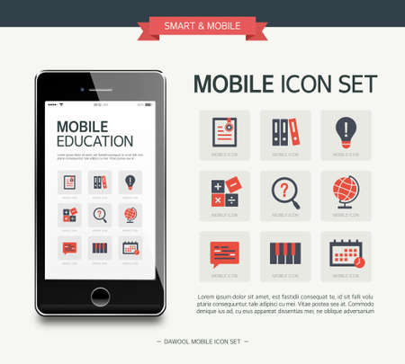 Vector education simple icon set