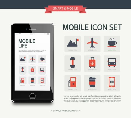 simple life: Vector life simple icon set Illustration