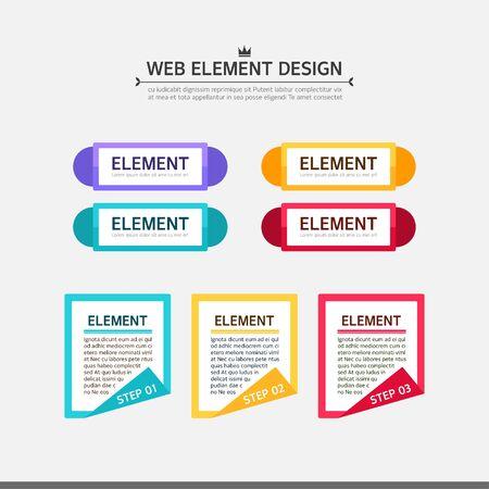 elemento de diseño Web