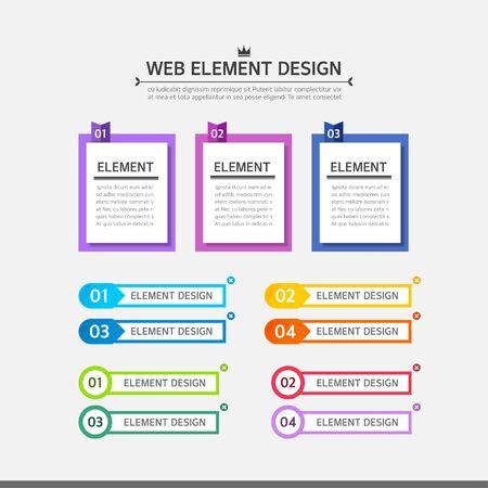 web element: Web element design