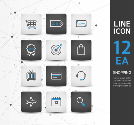 inquiry: shopping line icon