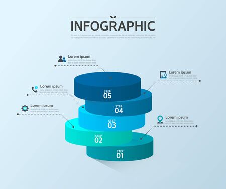 conjugation: Business Info graphic Design