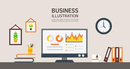 conjugation: business flat design