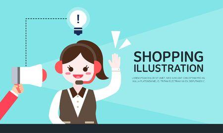 illust: shopping Illustrations Illustration