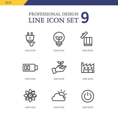 conjugation: Eco line Icon Set