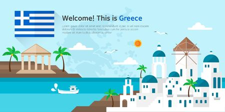 greece Landmarks illustration