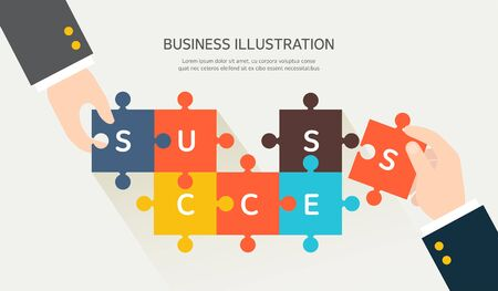 to seize: Business flat illustration
