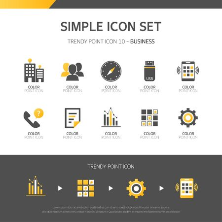 Simple Business Set Icon