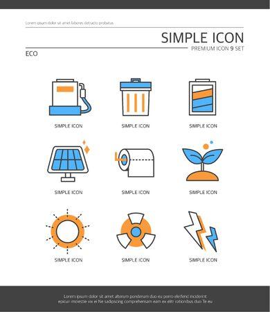 radiacion solar: Eco Sencillo Set Icon