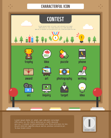 contest: Contest Simple icon set Illustration