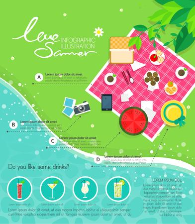 graphic illustration: food Info graphic illustration