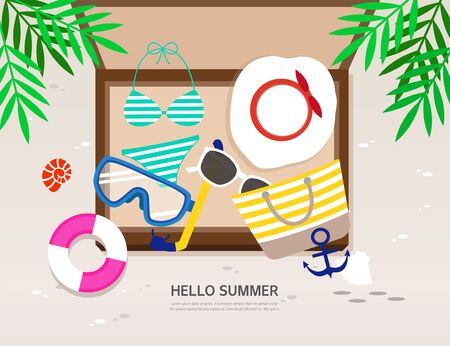utilization: summer illustration