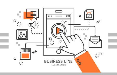 throttle: business line illustration Illustration