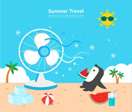 sea fans: summer illustration