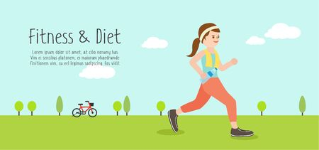 utilization: Fitness and diet illustration