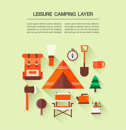 layer: leisure Camping Layer Illustration