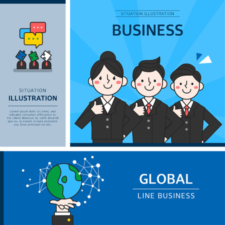 Business character illustration
