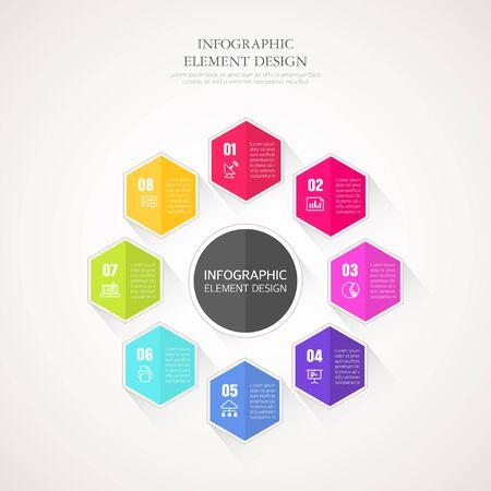 graphic illustration: business Info graphic illustration