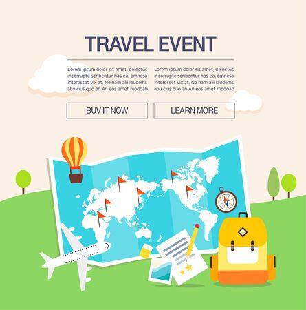 overseas: Summer travel illustration Illustration