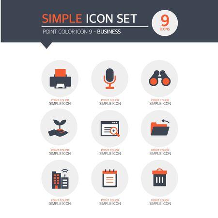 driving range: Business Simple Icon Set