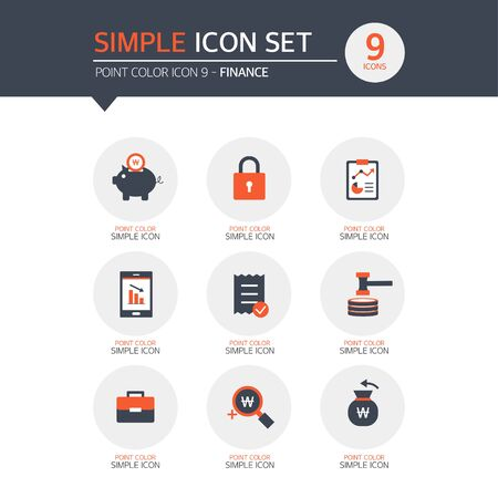 stockmarket chart: Finance Simple Icon Set