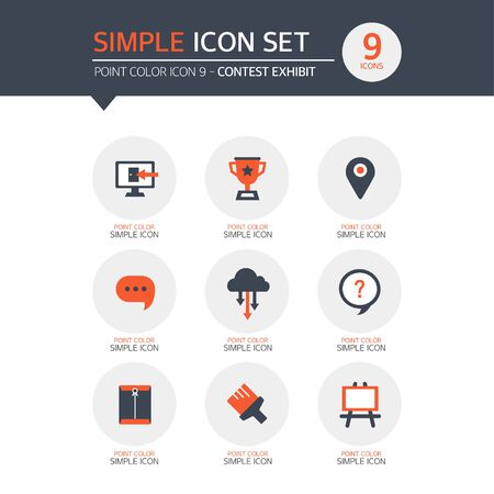 exhibit: Contest Exhibit Simple Icon Set