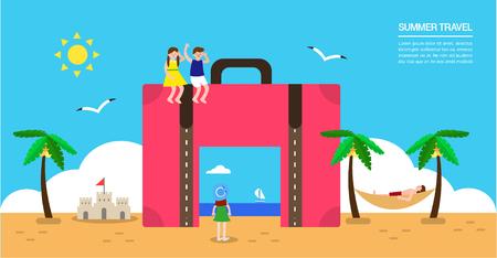 utilization: Summer travel illustration Illustration