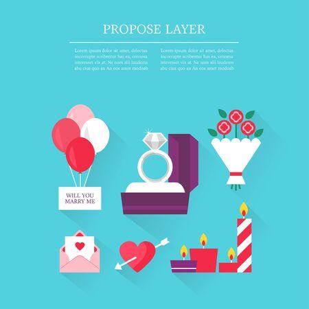 diamond candle: Propose layer set Illustration
