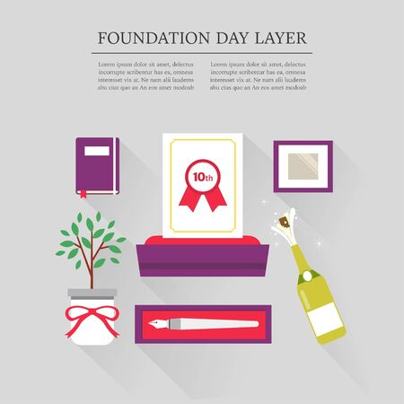 shopping champagne: foundation day layer set Illustration