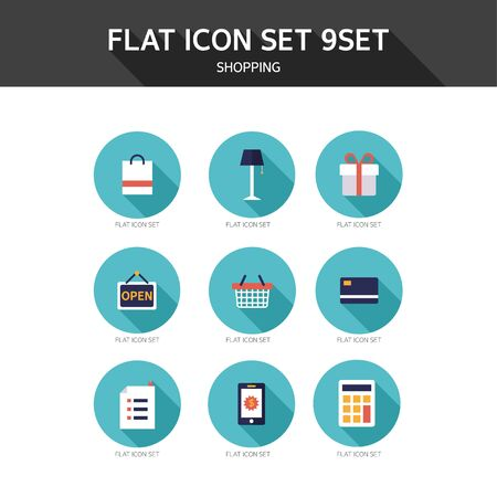 calculated: Flat icon shopping