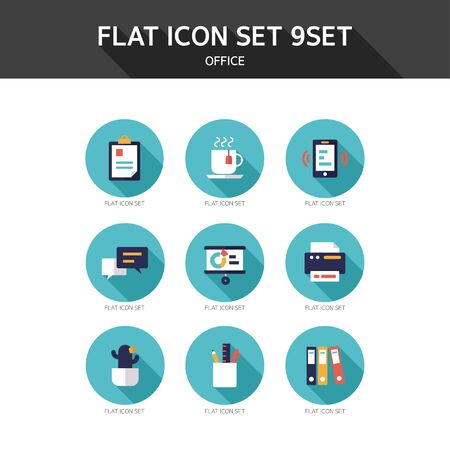 plant cell: Flat icon Office Illustration