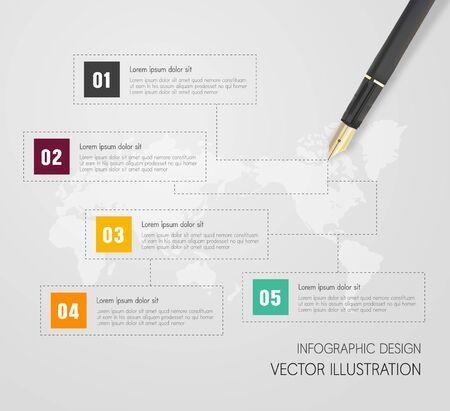 Info graphic design illustration Vector Illustration