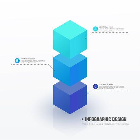 graphic illustration: Info graphic design illustration