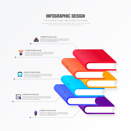 Info graphic design illustration