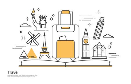 travel line illustration Illustration