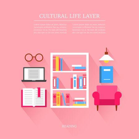 cultural life Reading layer set