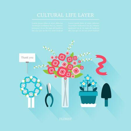 florist: cultural life florist layer set