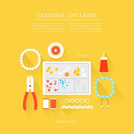 cultural life Bead craft layer set