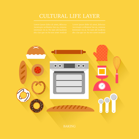 centers: cultural life Baking layer set