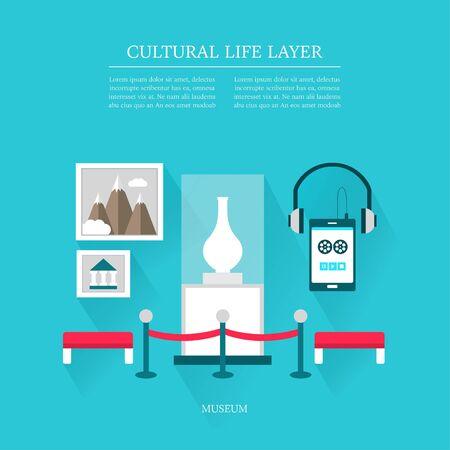 utilization: cultural life Museum layer set