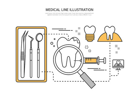 anesthesia: Medical line illustration