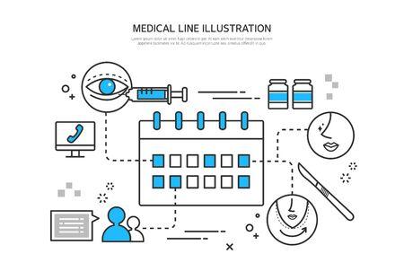 eyelid: Medical line illustration